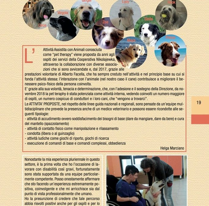 Pet Therapy al Centro Nikolajewka